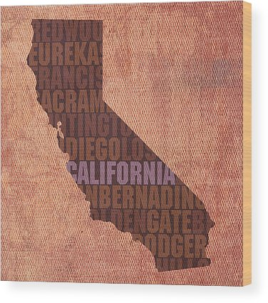 Golden State Wood Prints