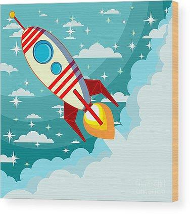 Spaceman Wood Prints