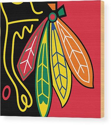 Hockey Sticks Wood Prints