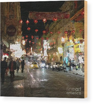 China Town Paintings Wood Prints