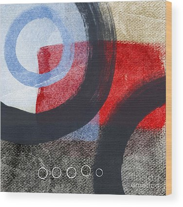 Red Abstract Wood Prints