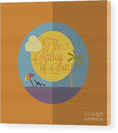 Sunbathing Wood Prints