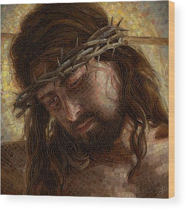 Crown Of Thorns Paintings Wood Prints