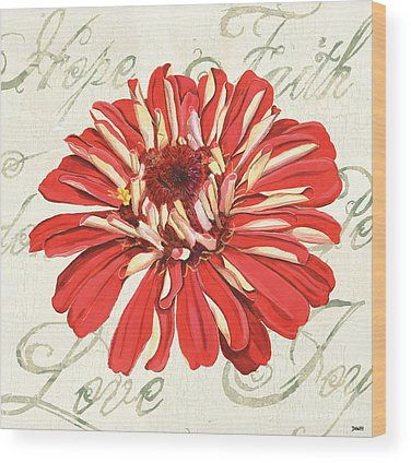 Dahlia Wood Prints