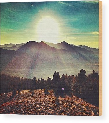 Mountain Wood Prints