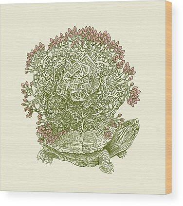 Maze Wood Prints