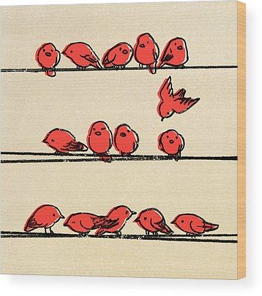 Retro Drawings Wood Prints