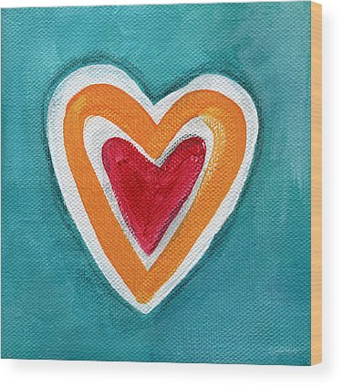 Blue Heart Wood Prints