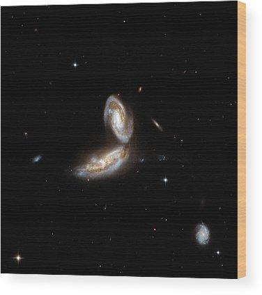 Interacting Galaxies Wood Prints