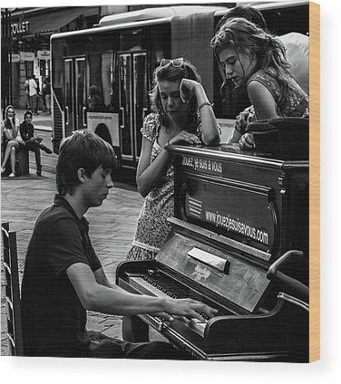 Play Music Wood Prints