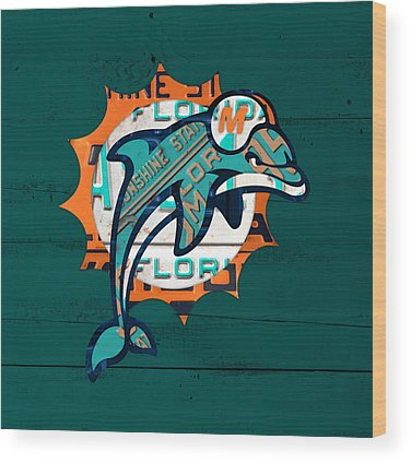 Dolphins Wood Prints