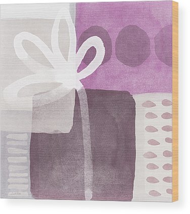 Purple Mixed Media Wood Prints