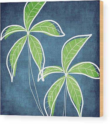 Green Abstract Art Wood Prints