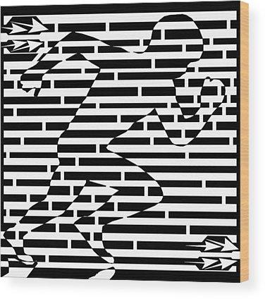 Sports Maze Wood Prints