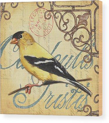 Yellow Bird Wood Prints