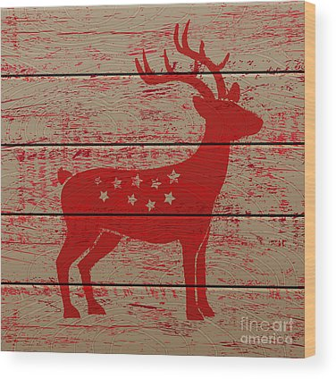 Reindeer Wood Prints
