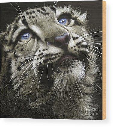 Leopard Paintings Wood Prints