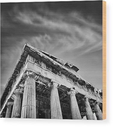 Ancient Greece Wood Prints