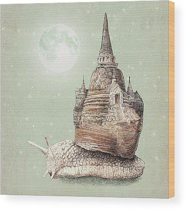 Snail Wood Prints