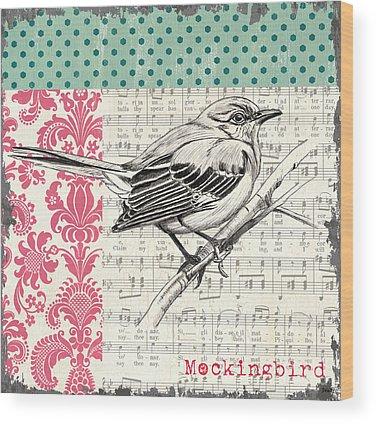 Mockingbird Wood Prints