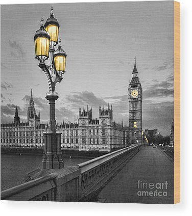 Houses Of Parliament Wood Prints
