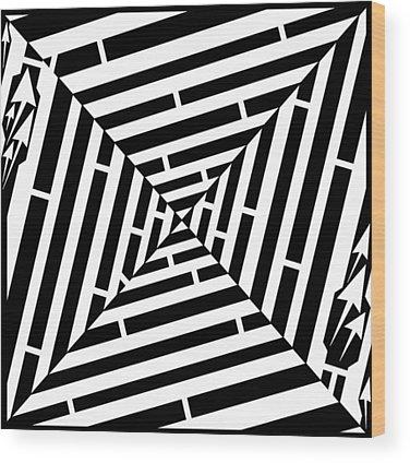 Alphabet Mazes Wood Prints