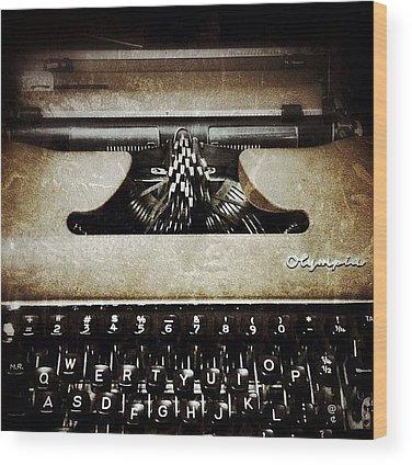 Typewriter Wood Prints