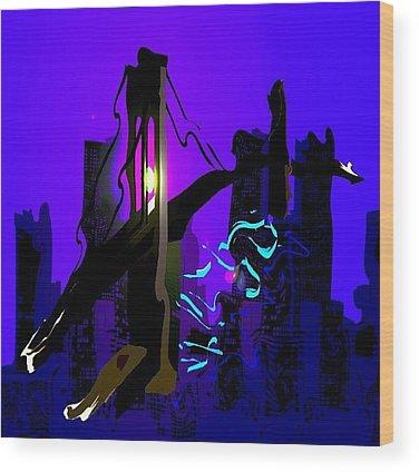 Abstract Skyline Wood Prints