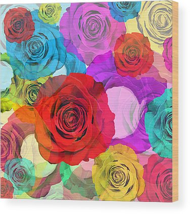 Abstract Rose Wood Prints
