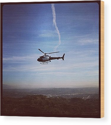 Helicopter Wood Prints