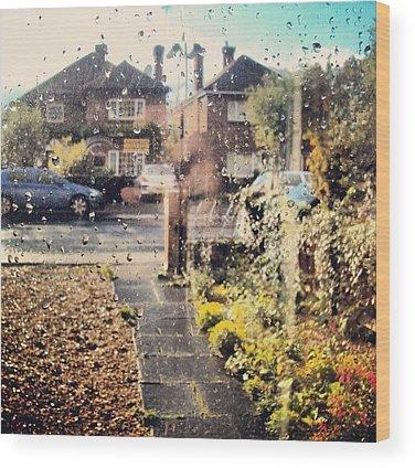 Raindrops Wood Prints
