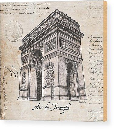 Arc De Triomphe Wood Prints