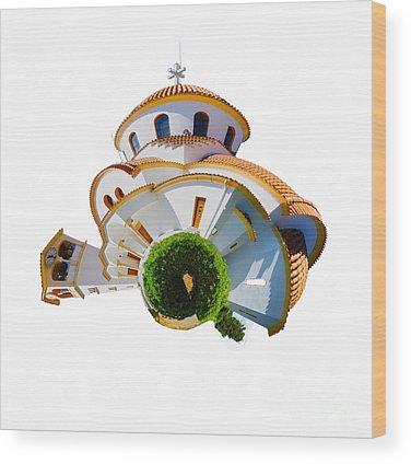 Greek Islands Wood Prints