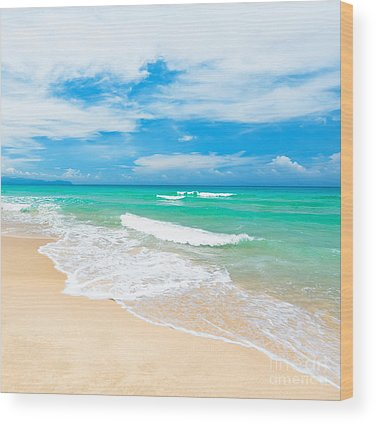 Beach Wood Prints