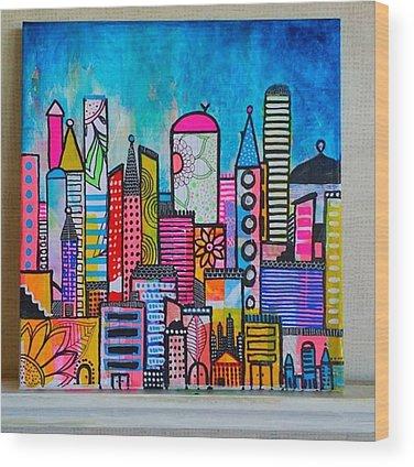Cityscape Wood Prints