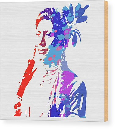 Indian Woman Wood Prints
