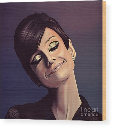 Audrey Hepburn Wood Prints