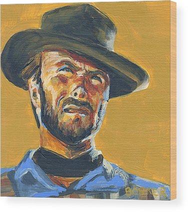 Cowboy Movie Wood Prints