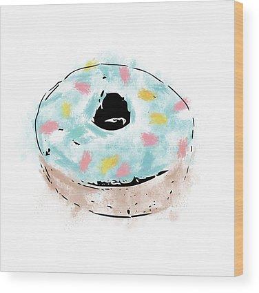 Doughnut Wood Prints