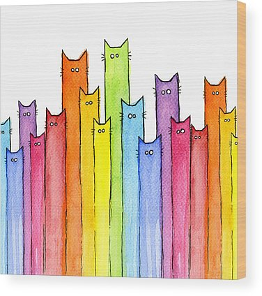 Rainbow Wood Prints