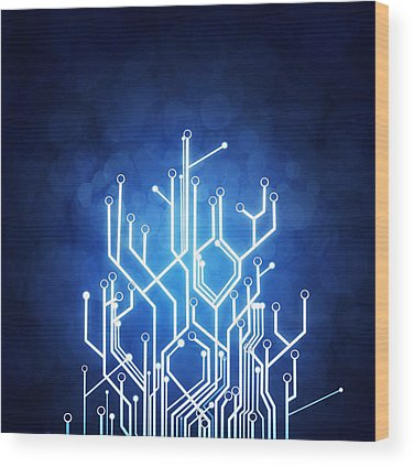 Printed Circuit Board Wood Prints