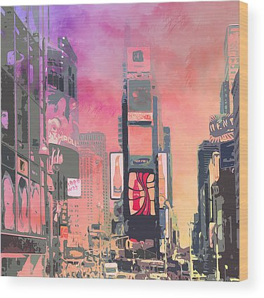 Times Square Wood Prints