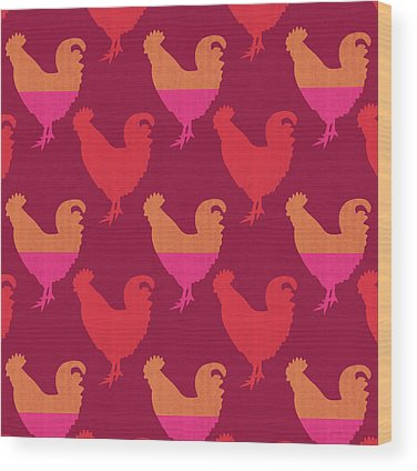 Rooster Wood Prints