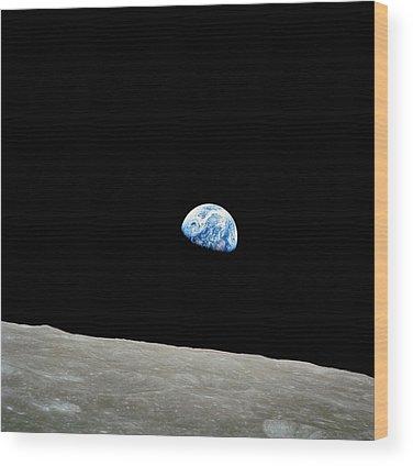 Earth Orbit Photographs Wood Prints