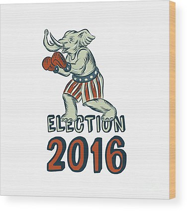 Election Wood Prints