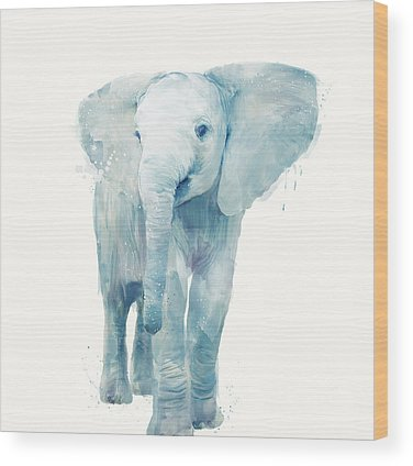 Elephant Wood Prints