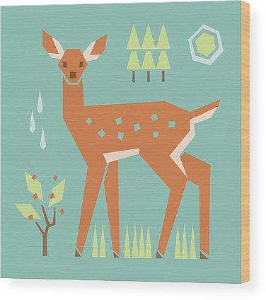 Baby Deer Wood Prints