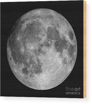 Satellite Image Wood Prints