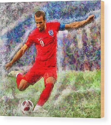 Harry Kane Wood Prints