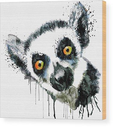 Lemurs Wood Prints
